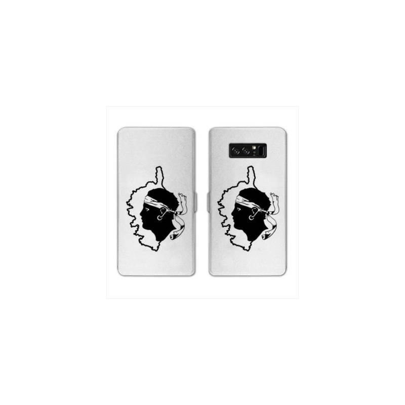 RV Housse cuir portefeuille pour Samsung Galaxy S10e Corse