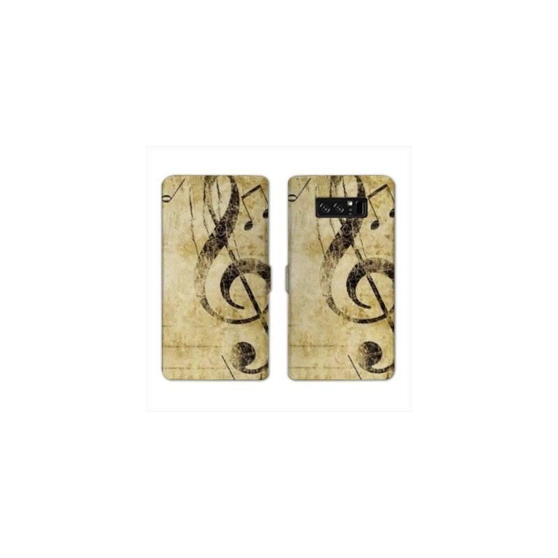 RV Housse cuir portefeuille pour Samsung Galaxy S10e Musique
