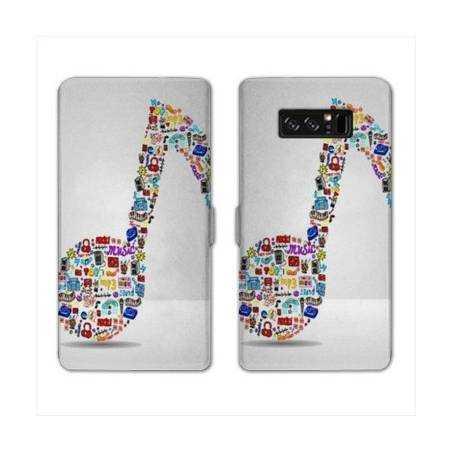RV Housse cuir portefeuille Samsung Galaxy S10 LITE Musique