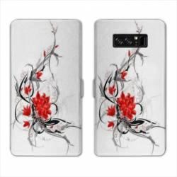 RV Housse cuir portefeuille Samsung Galaxy S10 LITE fleurs