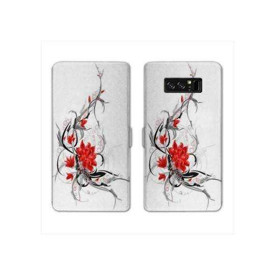 RV Housse cuir portefeuille Samsung Galaxy S10e fleurs