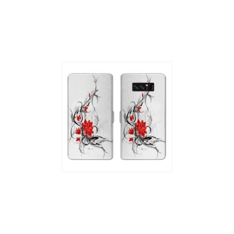 RV Housse cuir portefeuille pour Samsung Galaxy S10e fleurs