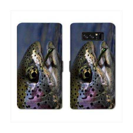 RV Housse cuir portefeuille Samsung Galaxy S10 LITE chasse peche