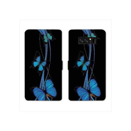 RV Housse cuir portefeuille pour Samsung Galaxy S10e papillons
