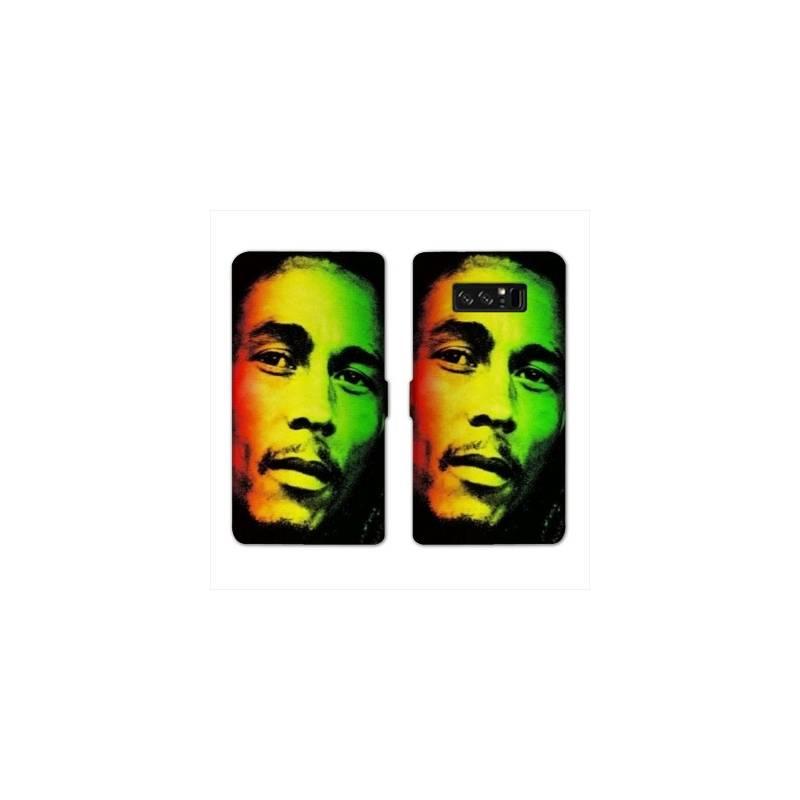 RV Housse cuir portefeuille Samsung Galaxy S10e Bob Marley