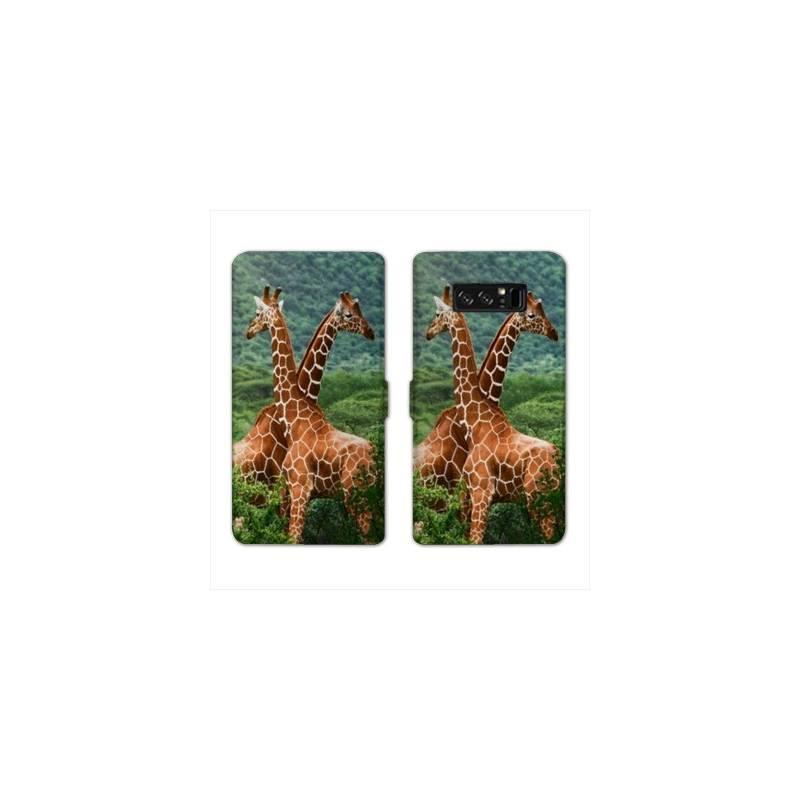 RV Housse cuir portefeuille pour Samsung Galaxy S10e savane