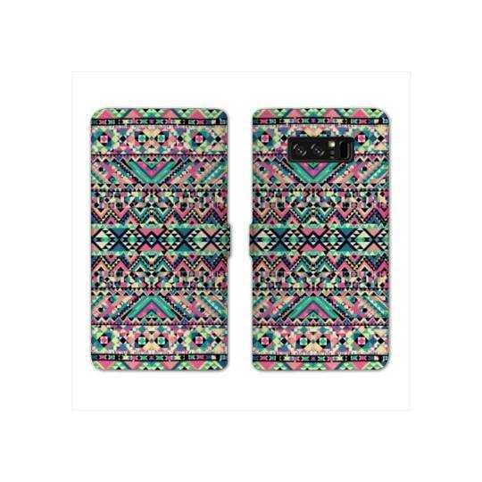 RV Housse cuir portefeuille Samsung Galaxy S10e motifs Aztec azteque