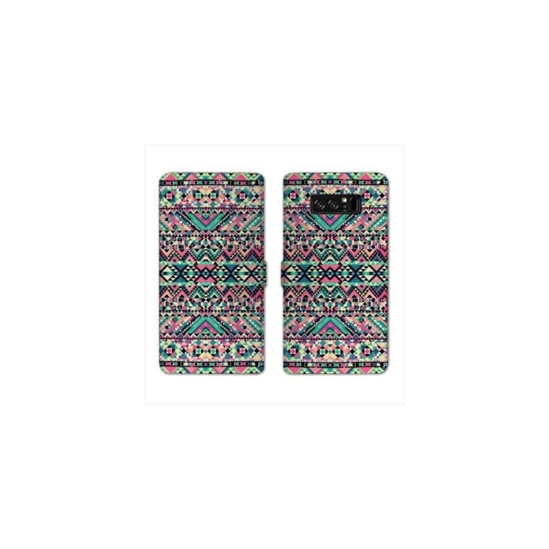RV Housse cuir portefeuille pour Samsung Galaxy S10e motifs Aztec azteque