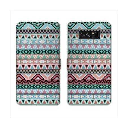 RV Housse cuir portefeuille Samsung Galaxy S10 LITE motifs Aztec azteque