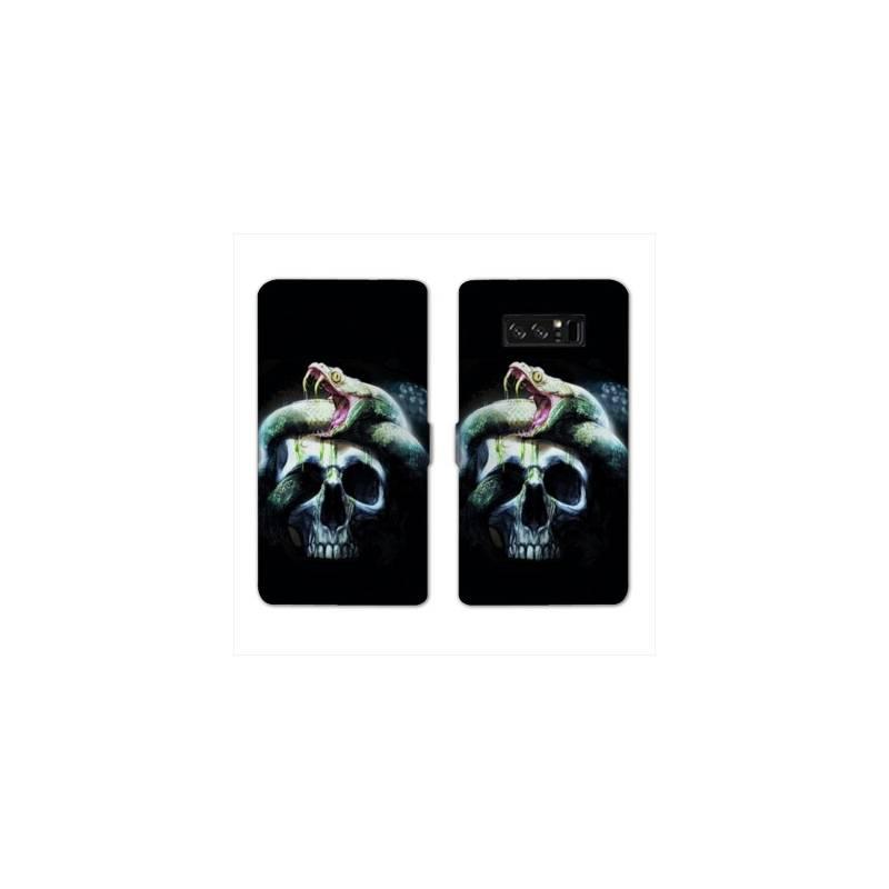 RV Housse cuir portefeuille Samsung Galaxy S10e reptiles