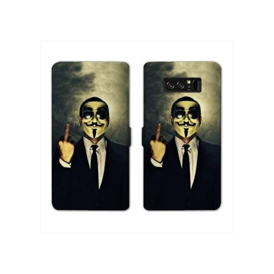 RV Housse cuir portefeuille Samsung Galaxy S10e Anonymous