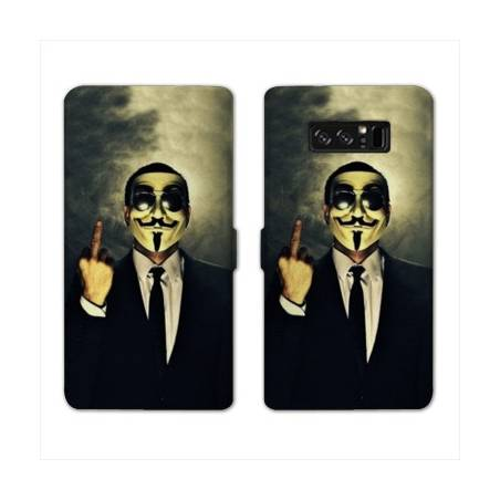 RV Housse cuir portefeuille Samsung Galaxy S10 LITE Anonymous