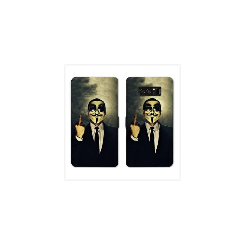 RV Housse cuir portefeuille pour Samsung Galaxy S10e Anonymous