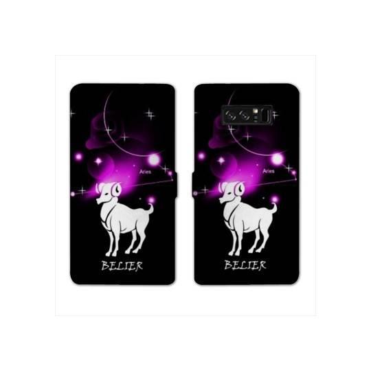 RV Housse cuir portefeuille Samsung Galaxy S10e signe zodiaque