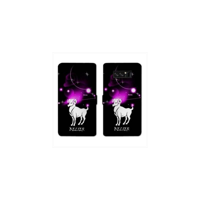 RV Housse cuir portefeuille pour Samsung Galaxy S10e signe zodiaque