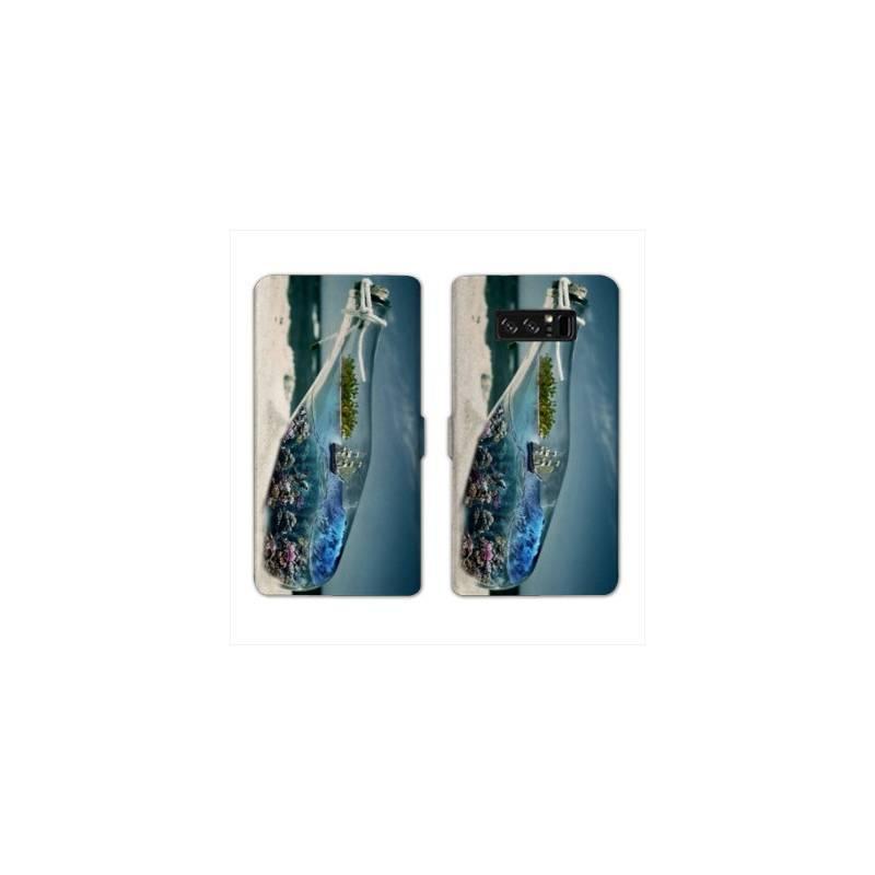 RV Housse cuir portefeuille pour Samsung Galaxy S10e Mer