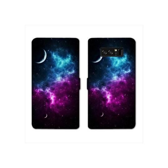 RV Housse cuir portefeuille Samsung Galaxy S10 LITE Espace Univers Galaxie