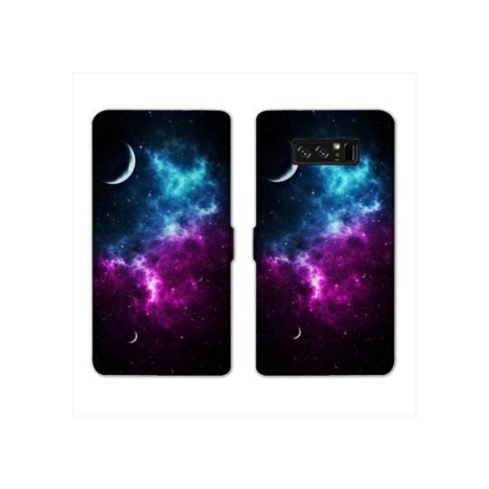 RV Housse cuir portefeuille Samsung Galaxy S10e Espace Univers Galaxie