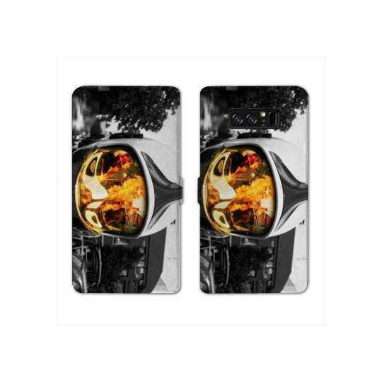 RV Housse cuir portefeuille pour Samsung Galaxy S10e pompier police