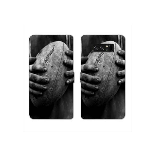 RV Housse cuir portefeuille pour Samsung Galaxy S10e Rugby