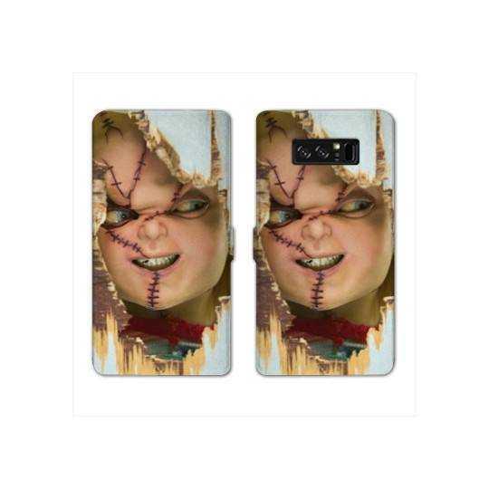 RV Housse cuir portefeuille pour Samsung Galaxy S10e Horreur