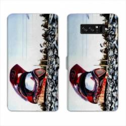 RV Housse cuir portefeuille Samsung Galaxy S10e Moto