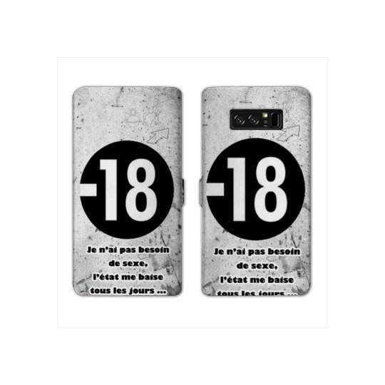 RV Housse cuir portefeuille Samsung Galaxy S10 LITE Humour