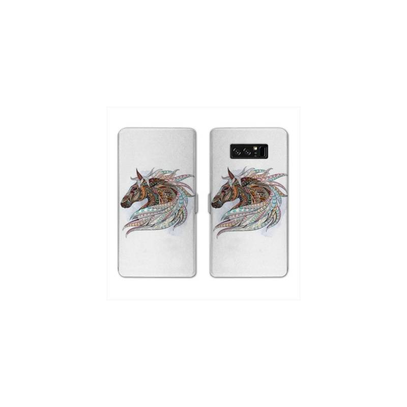 RV Housse cuir portefeuille Samsung Galaxy S10e Animaux Ethniques