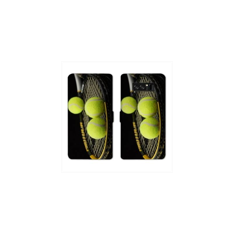 RV Housse cuir portefeuille pour Samsung Galaxy S10e Tennis