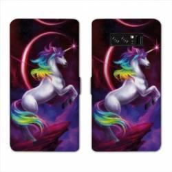 RV Housse cuir portefeuille Samsung Galaxy S10 LITE Licorne
