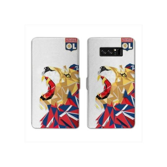 RV Housse cuir portefeuille pour Samsung Galaxy S10e License Olympique Lyonnais OL - lion color