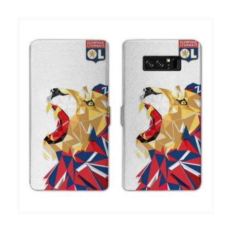 RV Housse cuir portefeuille Samsung Galaxy S10 LITE License Olympique Lyonnais OL - lion color
