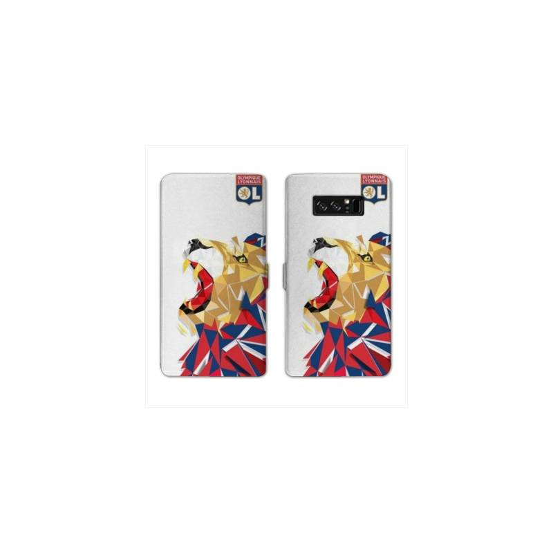 RV Housse cuir portefeuille Samsung Galaxy S10e License Olympique Lyonnais OL - lion color