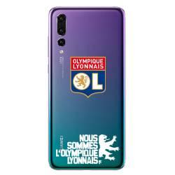 Coque transparente Huawei P30 Pro Licence Olympique Lyonnais - double face