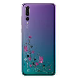 Coque transparente Huawei P30 Pro feminine fleur papillon