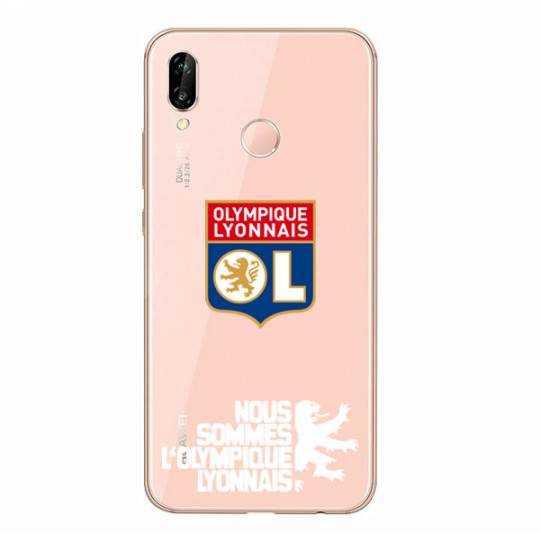 Coque transparente Huawei P30 Lite Licence Olympique Lyonnais - double face