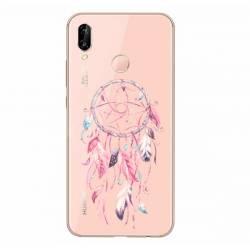 Coque transparente Huawei P30 Lite feminine attrape reve rose