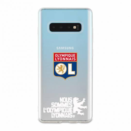 Coque transparente Samsung Galaxy S10e Licence Olympique Lyonnais - double face