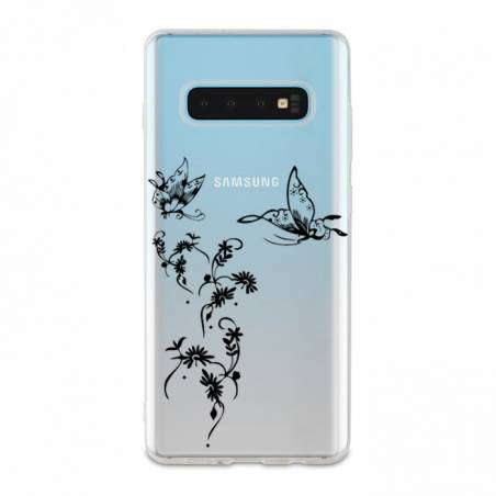 Coque transparente Samsung Galaxy S10e feminine envol fleur