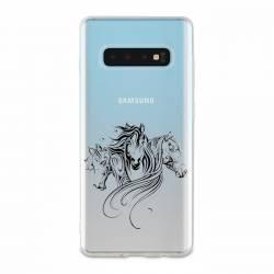Coque transparente Samsung Galaxy S10e chevaux