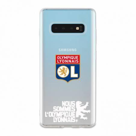 Coque transparente Samsung Galaxy S10 Licence Olympique Lyonnais - double face