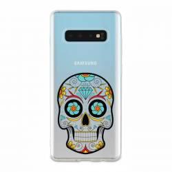 Coque transparente Samsung Galaxy S10 tete mort