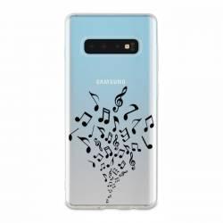 Coque transparente Samsung Galaxy S10 note musique