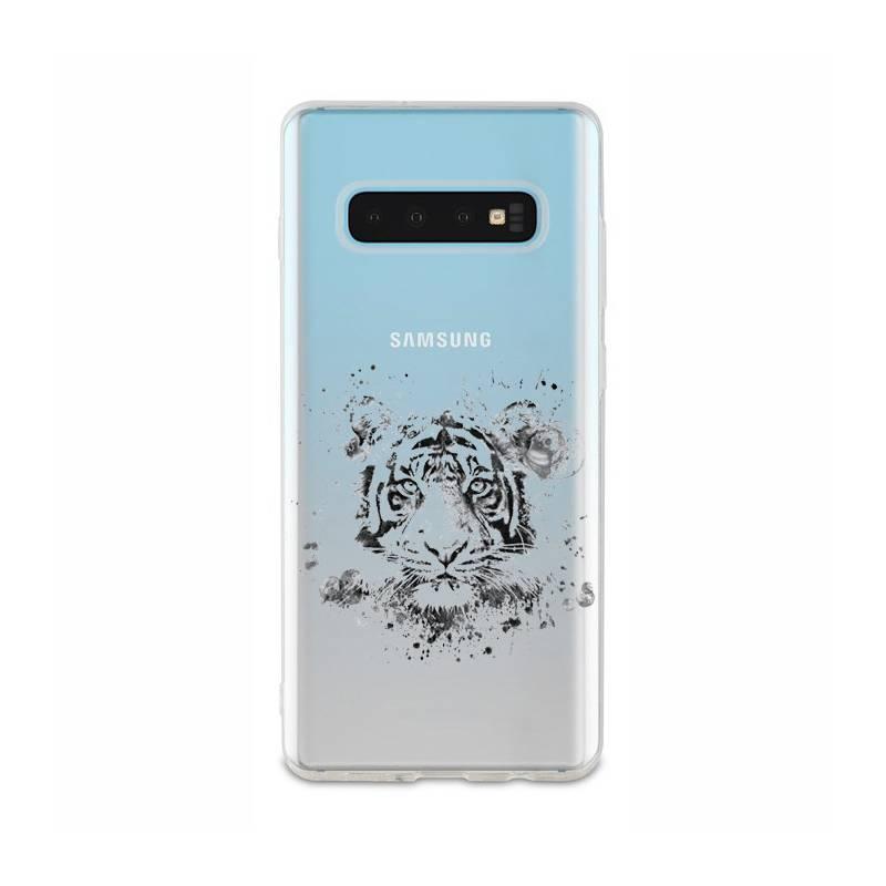 Coque transparente Samsung Galaxy S10 tigre