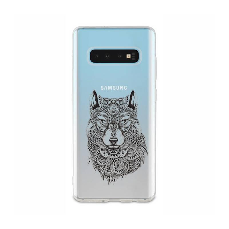 Coque transparente Samsung Galaxy S10 loup