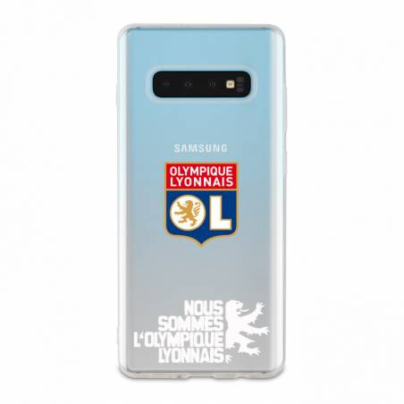 Coque transparente Samsung Galaxy S10 Plus Licence Olympique Lyonnais - double face