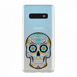 Coque transparente Samsung Galaxy S10 Plus tete mort