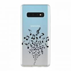 Coque transparente Samsung Galaxy S10 Plus note musique