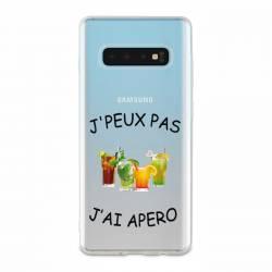 Coque transparente Samsung Galaxy S10 Plus jpeux pas jai apero