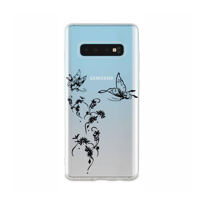 Coque transparente Samsung Galaxy S10 Plus feminine envol fleur
